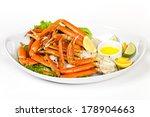 Crab Legs With Fresh Lemon...