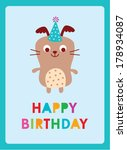 puppy birthday | Shutterstock .eps vector #178934087
