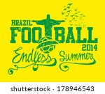 brazilian football retro style... | Shutterstock .eps vector #178946543