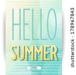 summer design poster on... | Shutterstock .eps vector #178967843