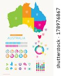 infographic of australia with... | Shutterstock .eps vector #178976867