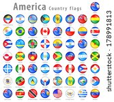 Hi detail vector shiny buttons with all American Country flags. Every button is isolated on its own layer