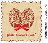 vintage postcard with easter... | Shutterstock .eps vector #179003873
