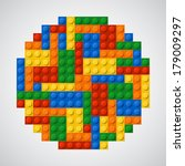 sphere of plastic bricks. 5...   Shutterstock .eps vector #179009297