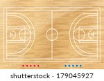 basketball tactic table with... | Shutterstock .eps vector #179045927