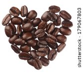 Coffee Beans Heart Isolated On...