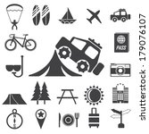 travel and tourism icon set.  | Shutterstock .eps vector #179076107