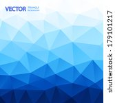 blue triangle abstract... | Shutterstock .eps vector #179101217