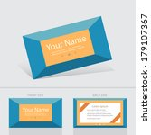 business card abstract... | Shutterstock .eps vector #179107367