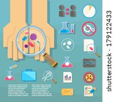 research of bacteria.... | Shutterstock .eps vector #179122433