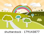 paper vector nature background... | Shutterstock .eps vector #179143877