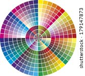 round vector color chart for