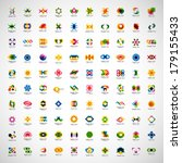 unusual icons set   isolated on ... | Shutterstock .eps vector #179155433