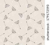 dandelions seamless pattern....   Shutterstock . vector #179172593