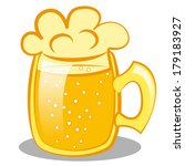 beer mug with a beer. clip art   Shutterstock .eps vector #179183927