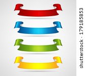 colorful ribbons set | Shutterstock .eps vector #179185853