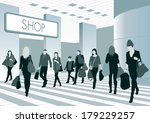 silhouettes of people in... | Shutterstock .eps vector #179229257