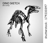 dinosaur vector sketch... | Shutterstock .eps vector #179233397
