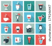 drink icons | Shutterstock .eps vector #179246447