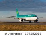 Small photo of PRAGUE, CZECH REPUBLIC - JANUARY 07: A320 Aer Lingus taxis to terminal at PRG Airport on January 07, 2014. Aer Lingus is the national flag carrier of Ireland. It operates a fleet of Airbus aircraft.