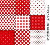 Seamless Red Polka Dot Patterns