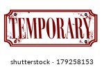 temporary grunge stamp whit on... | Shutterstock .eps vector #179258153