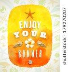 watercolor banner with summer... | Shutterstock .eps vector #179270207