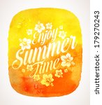 summer time greeting with... | Shutterstock .eps vector #179270243