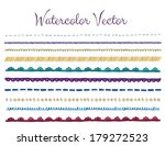 watercolor lace border vector | Shutterstock .eps vector #179272523