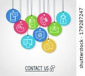 contact us cardboard labels and ... | Shutterstock .eps vector #179287247