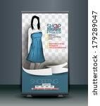 shopping store roll up banner... | Shutterstock .eps vector #179289047