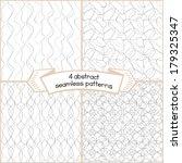 ink strokes seamless set. four... | Shutterstock .eps vector #179325347