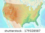 topographic map of the usa with ... | Shutterstock . vector #179328587