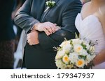 father and daughter at wedding | Shutterstock . vector #179347937