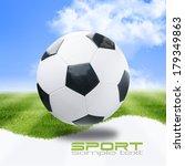 soccer ball on green stadium | Shutterstock . vector #179349863