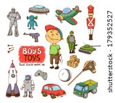 Vector Toys For Boy  Rocket Gu...