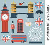 London flat icon set