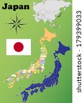 japan vector set. isolated | Shutterstock .eps vector #179399033