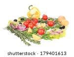 various fresh vegetables.... | Shutterstock . vector #179401613