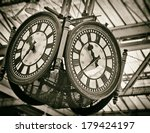 large decorative clock with...