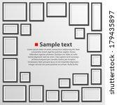 blank frame on a white... | Shutterstock .eps vector #179435897
