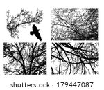 tree branches set. vector | Shutterstock .eps vector #179447087