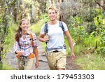 Outdoor Activity Couple Hiking...