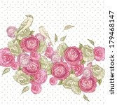 beautiful rose background with... | Shutterstock .eps vector #179468147