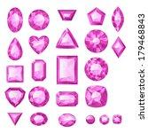 set of realistic pink jewels.... | Shutterstock .eps vector #179468843