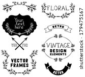 set of vintage design elements... | Shutterstock .eps vector #179475167