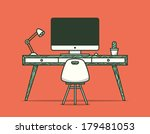 workspace. vector illustration.  | Shutterstock .eps vector #179481053