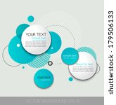 vector background with circle... | Shutterstock .eps vector #179506133
