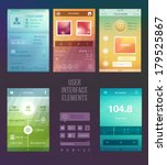 set of various elements used... | Shutterstock .eps vector #179525867