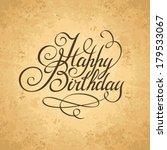 vintage happy birthday... | Shutterstock .eps vector #179533067